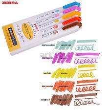 Zebra Soft Mildliner Paint Marker Art Colors Pens Double Ended Highlighters Set