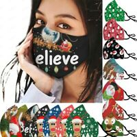 Christmas Adult Breathable Print Mouth Mask Unisex Face Mask Cover Reusable Mask