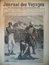 JOURNAL DES VOYAGES N° 503 INDE MOEURS HINDOU MANTI SORCIER SACRIFICE 1887