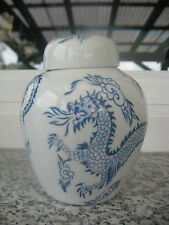 POT à THE Porcelaine ASIATIQUE DRAGON BLEU 13 cm haut