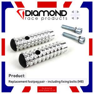 Diamond Race Products - Remplacement Repose Pied Pieds Paire M8 Boulon Pour