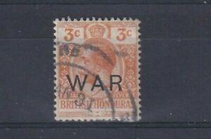 BRITISH HONDURAS 1918 3c Orange with WAR Overprint  SG 120 USED