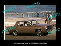 OLD POSTCARD SIZE PHOTO OF 1966 VC CHRYSLER VALIANT REGAL LAUNCH PRESS PHOTO 2