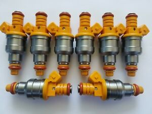 19LB GENUINE BOSCH UPGRADE CHEVY,FORD,DODGE SET OF 8 FUEL INJECTORS