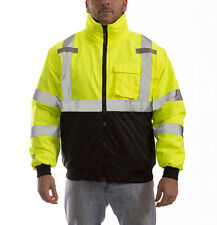 Dickies High Visibility Hi Vis Bomber Jacket Warm Padded Coat Yellow Work Size