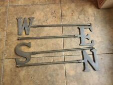 New Weathervane Weathered Directionals Nsew Letters Indicators