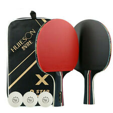1Pair Table Tennis Rackets Professional Rubber Carbon Pingpong Racket