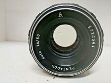 Vintage Black PENTACON auto 1.8/50mm M42 screw mount lens Retro Portrait Lens