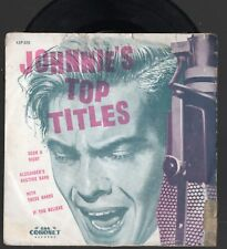 Rare JOHNNIE RAY EP Johnnie's Top Titles 1953-5 Such A Night WITH THESE HANDS ++