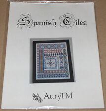 "AuryTM ""Spanish Tiles"" Cross Stitch Sampler Pattern NIP"