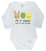 Dirty Fingers, My 1st Easter, spoil me chocolate!, Baby Long Sleeve Bodysuit