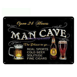 Metal Tin Sign man cave the place to go Pub Home Vintage Retro Poster Cafe