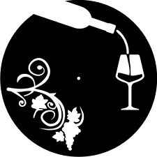 DXF CDR and EPS File For CNC Plasma or Laser Cut - Wine & Grapes Clock