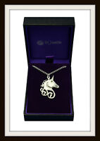 CELTIC UNICORN ~ PEWTER PENDANT NECKLACE ~ FROM ST JUSTIN  MADE IN U.K. FREE P&P