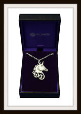 St Justin Made In U.K. Free P&P Celtic Unicorn ~ Pewter Pendant Necklace ~ From