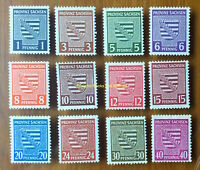 EBS Germany 1945 SBZ - Saxony - Provincial Arms set perf 73X-(80Y)-84X MNH**