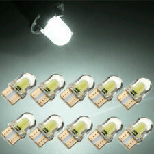 10x White T10 194 168 W5W COB 8SMD LED CANBUS Silica Bright License Lights Bulbs