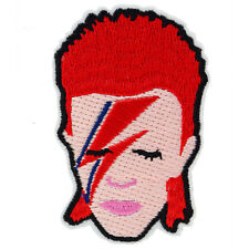 David Bowie Aladdin Sane Iron On Patch Music 70s 80s Retro Ziggy Button