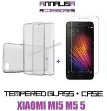 KIT COVER + PELLICOLA VETRO TEMPERATO XIAOMI MI5 M5 CASE TPU TEMPERED GLASS