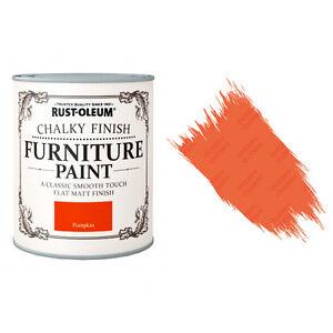 Sale Rust-Oleum Chalk Chalky Furniture Paint Chic Shabby 750ml Pumpkin Matt
