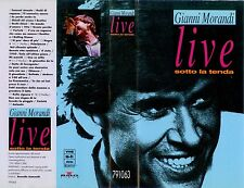 VHS Gianni Morandi Live sotto la tenda 1991