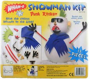 Holiday Christmas Winter Wham-O Build your own Punk Rocker Snowman Kit NEW