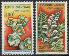 CONGO 1963 AIR FLOWERS SET (2) VLHM (ID:763/D22753)