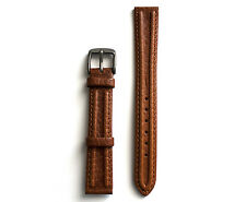 Double Padd Brown 16mm XL Leather Watch Strap