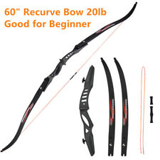 "20lb 60"" Recurve Bow & Ilf Limbs for Archery Beginner Hunting Shooting Practise"