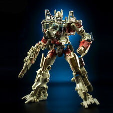 Transformers Battle Damage Optimus Prime Convoy Car Deformation Toy With Weapon