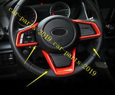 Orange Inner Steering Wheel Frame Cover Trim For Subaru XV/Crosstrek 2018 2019