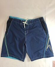 SPEEDO MEN'S Blue, White, Yellow, BOARD SHORTS SWIMMING TRUNKS Size Large