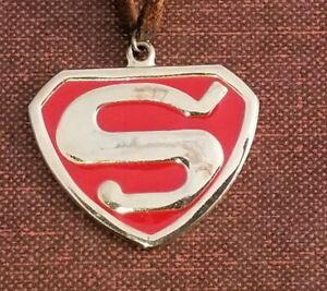 Vintage Superman Pendant Emblem 1940's Logo Necklace Super Rare Premium Antique