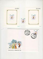 """THAILAND, 1992, """"YEAR OF MONKEY"""" 2 S/S AND STAMP MINT NH. AND STAMP ON FDC FRESH"""