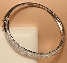 Bangle Bracelet In 18K White Gold Finish 1.50Ct With Round Cut Diamonds