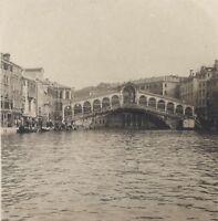 Venezia Pont Rialto Italia Stereo Vintage Analogica Ca 1920