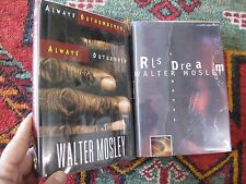 Lot of 2 Signed First Editions Author Walter Mosley RL's Dream Outnumbered