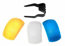 3 Colour Pop Up Universal Flash Diffusers UK Seller