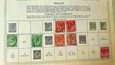 MALAY / MALAYA VINTAGE USED STAMPS