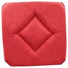 Galette Dessus de chaise Faux Uni Rouge Foncé avec Rabats