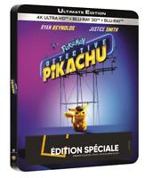 Blu Ray 4K + 3D + 2D : Détective Pikachu - Ed Steelbook FNAC - NEUF