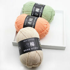 NEW 50g Skein Knitting wool Crochet baby Soft Milk cotton Chunky Yarn lot weater