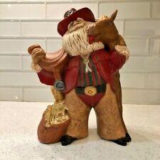 Gare Ceramic Santa with Horse Equestrian
