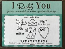 Unity Retired I Ruff You Kitty Cat Puppy Dog Pet Paw Rubber Cling Mount Stamps