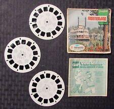 Vintage VIEW-MASTER Frontierland / Disneyland w/ 3 Reels VG-/VG+ Walt Disney