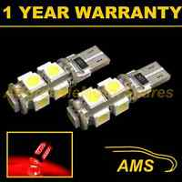 2X W5W T10 501 CANBUS ERROR FREE RED 9 LED SIDELIGHT SIDE LIGHT BULBS SL101701