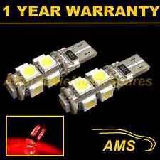 2x W5W T10 501 Canbus Libre De Errores Rojo 9 LED Luz Lateral Bombillas Faros