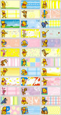 120 Disney Winnie the Pooh personalised name label (Small size)