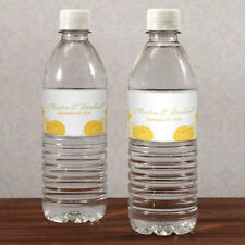 60 Zinnia Bloom Water Bottle Labels Bridal Shower Wedding Favors