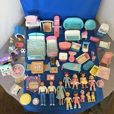 VTG Fisher Price Loving Family Dollhouse  People Furniture  LOT of 55+ Very Good